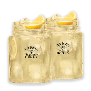 Jack Daniel's Honey Mason Jar Glasses (Pack of 2)