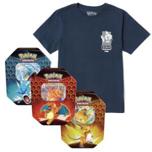 Pokémon Magikarp Tee & Pokémon TCG: Hidden Fates Tin Bundle