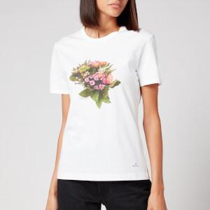 PS Paul Smith Women's Flower Printed T-Shirt - White