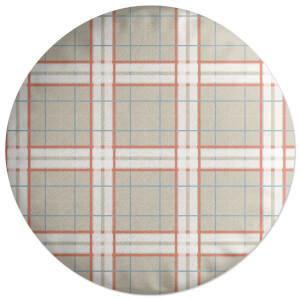 Artistic Tartan Round Cushion