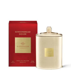 Glasshouse Christmas Gingerbread House Candle 380g