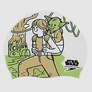 Junior Star Wars Slogan Print Cap Yoda White