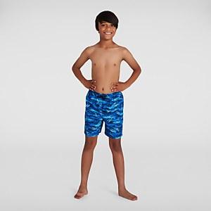 """Boy's Printed 15"""" Watershort Blue"""