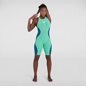Women's Fastskin LZR Pure Intent Openback Kneeskin Green