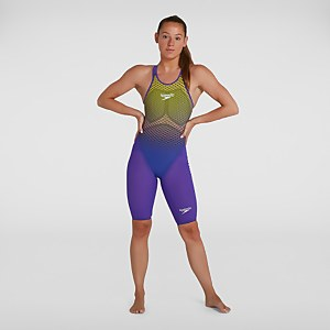 Women's Fastskin LZR Pure Valor Openback Kneeskin Violet