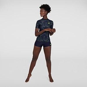 Women's Boomstar Allover Short Sleeve Rash Top Navy