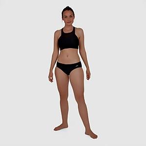 Hexagonal Mesh Panel Bikini Black