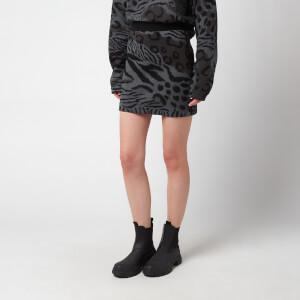KENZO Women's 'Cheetah Leopard' Mini Skirt - Mist Grey