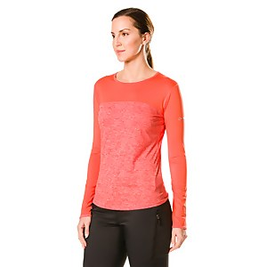 Women's Voyager Tech Tee Long Sleeve Crew - Red