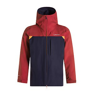 Men's Chombu Waterproof Jacket - Red / Blue / Orange