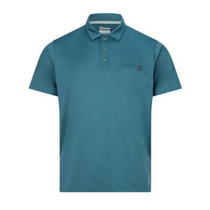 Men's Voyager 2.0 Tech Tee Polo Shirt - Turquoise