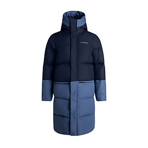 Women's Combust Reflect Long Down Insulated Jacket - Blue