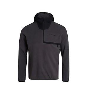 Men's Aslam Hooded Half Zip Fleece - Grey