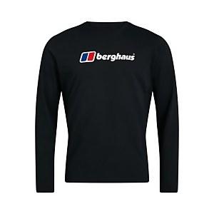 Men's Organic Big Logo Long Sleeve T-Shirt - Black