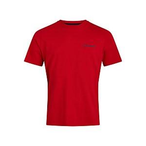 Men's Organic Colour Logo T-Shirt - Red / Blue