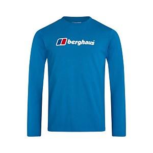 Organic Big Logo Long Sleeve T-Shirt - Blue