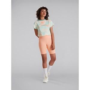 Women's Crop Short Sleeve Tee - Pink / Light Blue