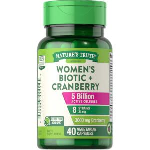 Women's Probiotic + Cranberry - 40 Capsules