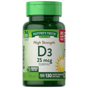 Vitamin D3 1000IU - 130 Softgels