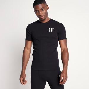 Men's Sustainable Loungewear Rib T-Shirt - Black