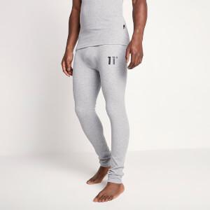 Men's Sustainable Loungewear Rib Pants - Grey Marl