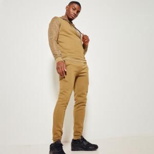 Men's Eclipse Cut And Sew Mixed Fabric Joggers Regular Fit - Nutria Green