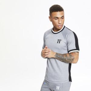 Men's Dash Contrast Back T-Shirt - Black/Grey Marl/White