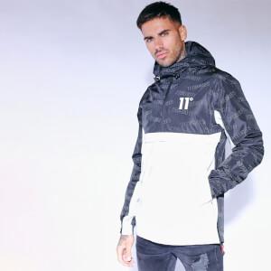 Men's Colour Block Reflective Waterproof Hurricane Jacket - Black/Reflective