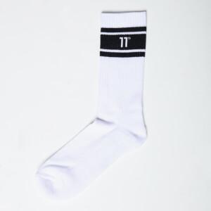 Men's Core Stripe Socks 3 Pack - White