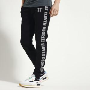 Men's Contrast Print Joggers Regular Fit - Black/Charcoal