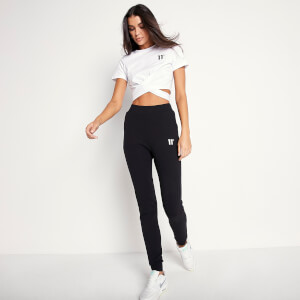 Women's Short Sleeve Taped Cropped T-Shirt - White