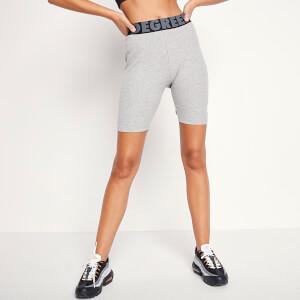 Women's Sustainable Rib Lounge Cycling Shorts - Grey Marl