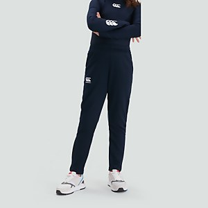 STRETCH TAPERED POLY KNIT PANTS