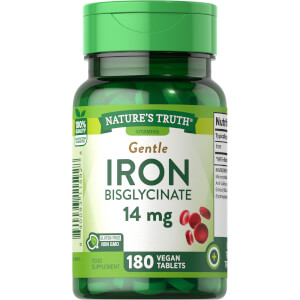 Iron Bisglycinate 14mg - 180 Tablets