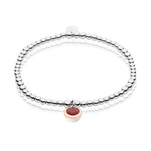 January Birthstone Affinity Bead Bracelet