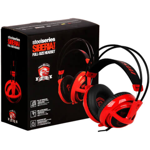SteelSeries Siberia V2 Headset – Red