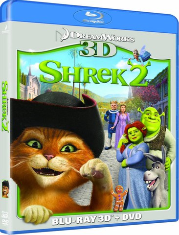 Shrek 2 – Der tollkühne Held kehrt zurück 3D (3D Blu-Ray, 2D Blu-Ray und DVD)