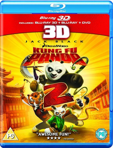 Kung Fu Panda 2 3D (3D Blu-Ray, 2D Blu-Ray and DVD)