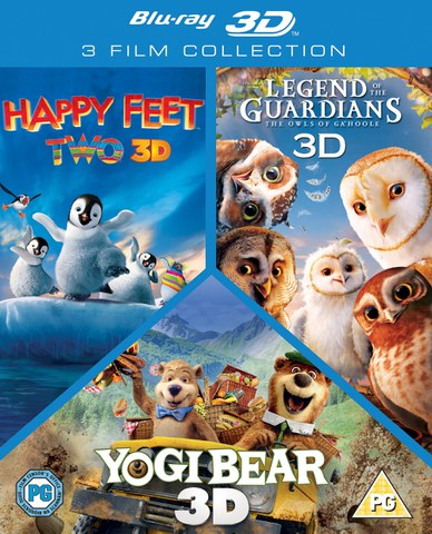 3D Triple Pack: Happy Feet 2 / Yogi Bear / Legend of Guardians