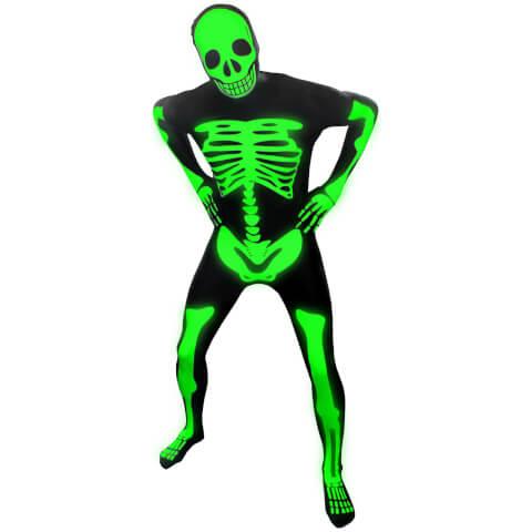 Morphsuit Adults' Glow in the Dark Skeleton - Black