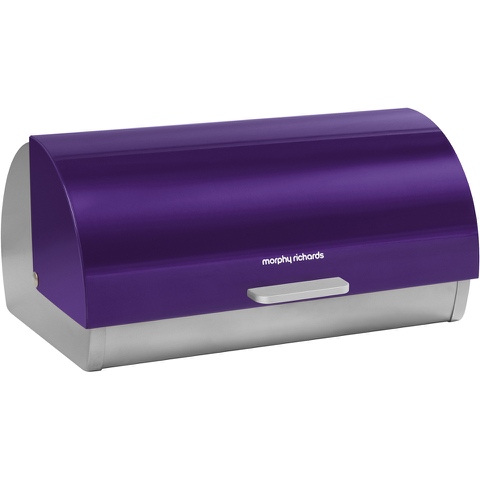 Morphy Richards 46243 Roll Top Bread Bin - Plum