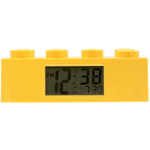 LEGO Alarm Clock - Yellow
