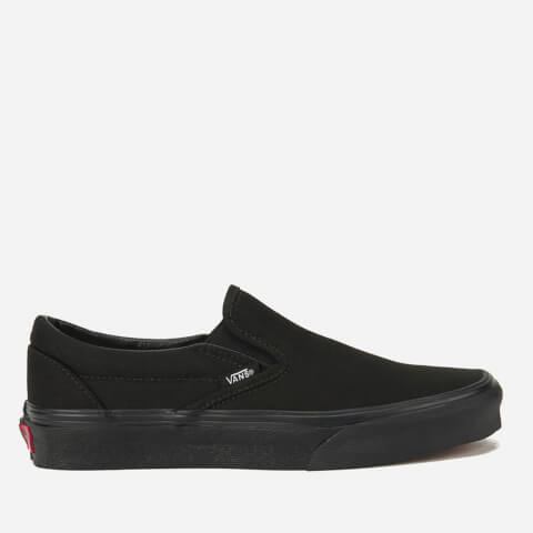 Vans Classic Slip-On Canvas Trainers - Black