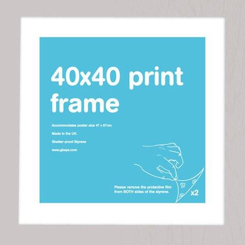 Silver Frame 40 x 40cm Print