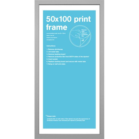 Silver Frame 50 x 100cm