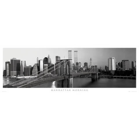 New York Manhattan Morning - Door Poster - 53 x 158cm