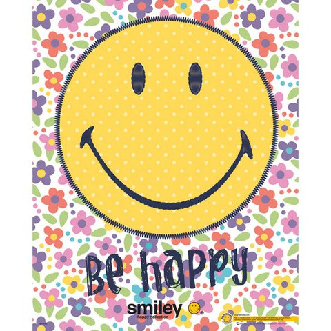Smiley Be Happy - Mini Poster - 40 x 50cm
