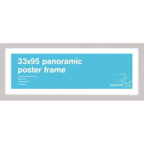 Silver Frame Panoramic - 33 x 95cm