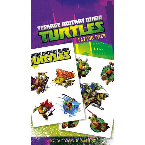 Teenage Mutant Ninja Turtles Shellheads - Tattoo Pack