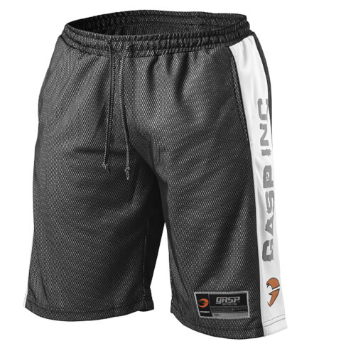 GASP No1 Mesh Shorts - Black/White